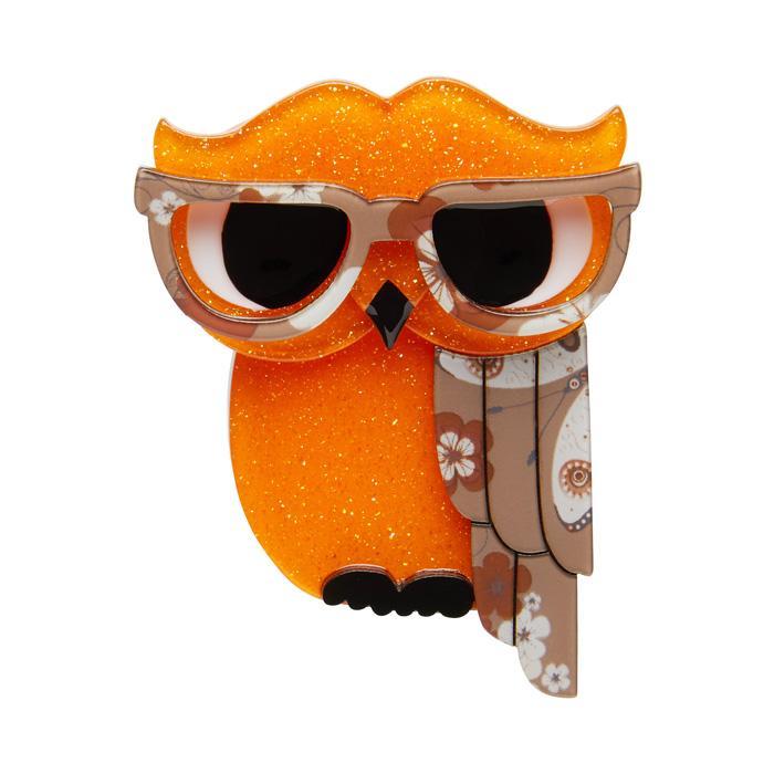 Waldo The Wacky Wise Owl - Erstwilder Brooch