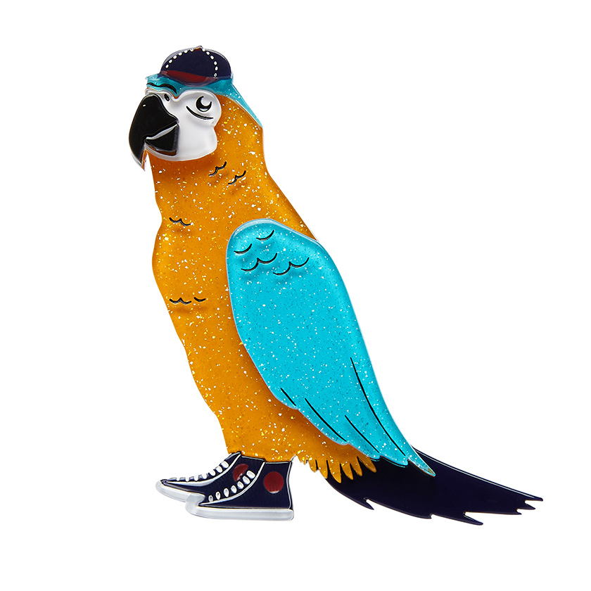 Corey The Macaw - Erstwilder Parrot South American Socialite Brooch