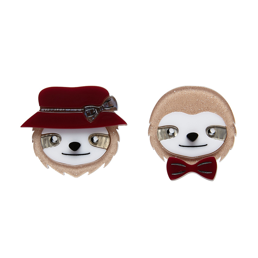 The Slothertons - Erstwilder Double Sloth Brooch