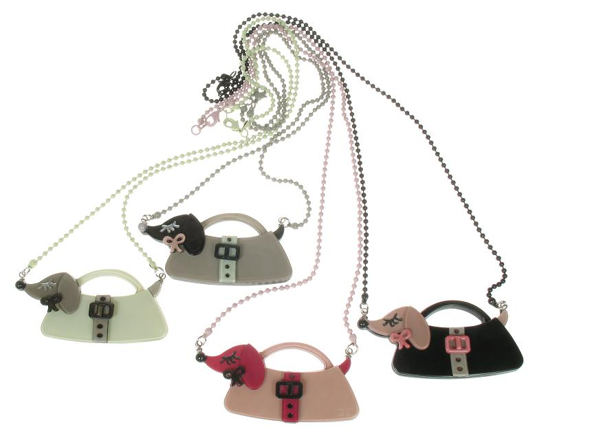 BIG BABY Sausage Dachshund Dog Handbag Necklace