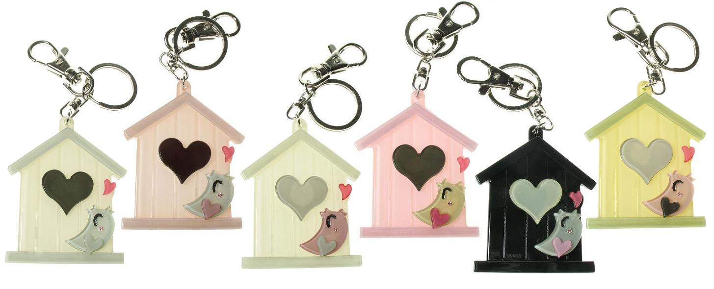 BIG BABY Bird House Keyring/Bag Charm