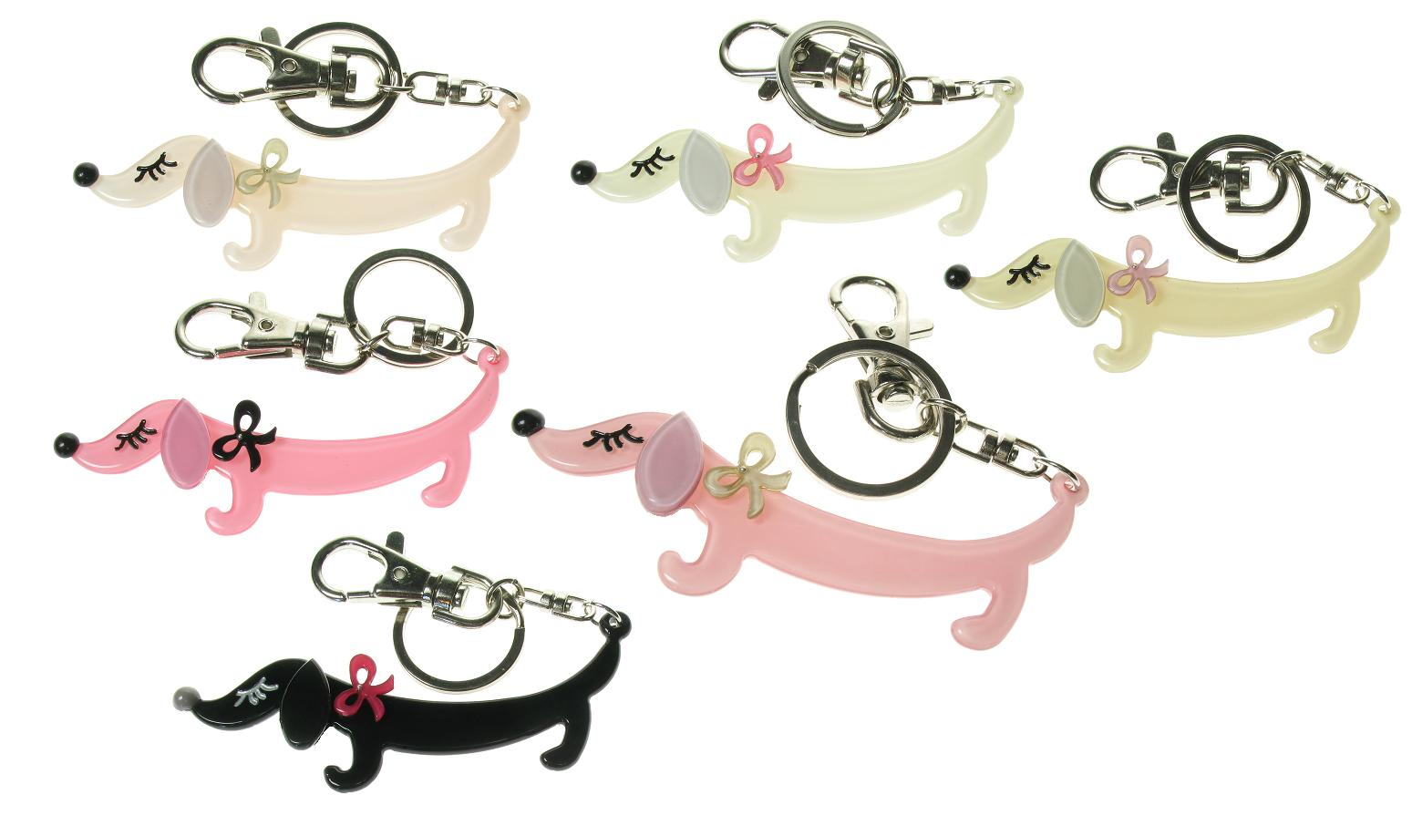 BIG BABY Sausage Dachshund Dog Keyring/Bag Charm