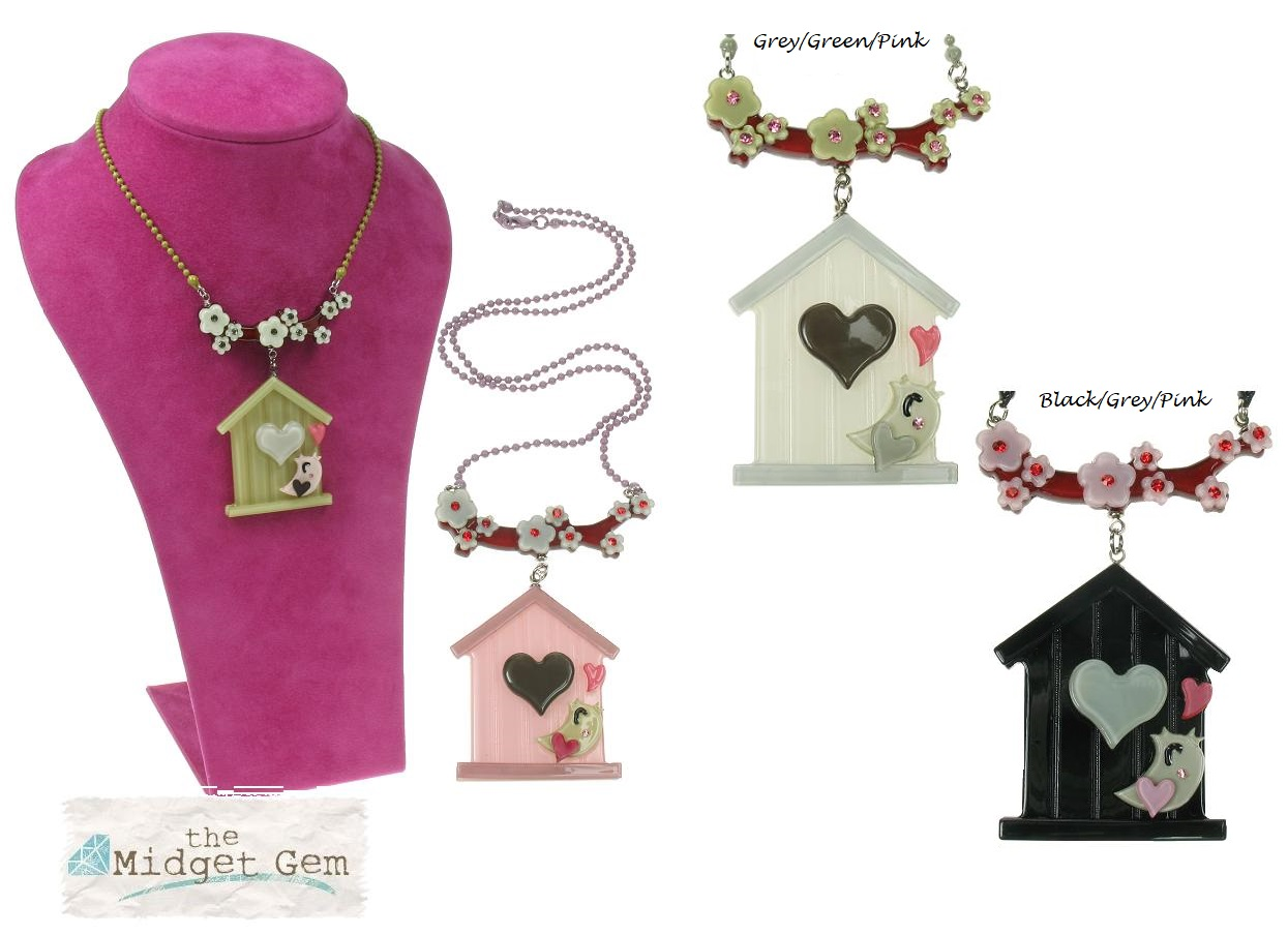 BIG BABY Bird House & Blossom Necklace
