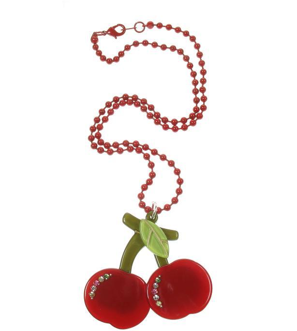BIG BABY Pair Of Cherries Necklace