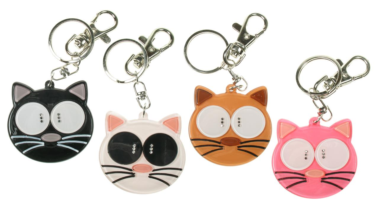 BIG BABY Big Eyed Cat Keyring/ Bag Charm