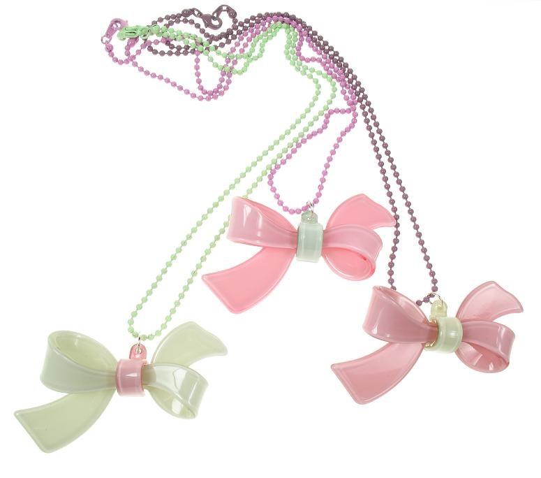 BIG BABY Bow Tie Pendant Necklace