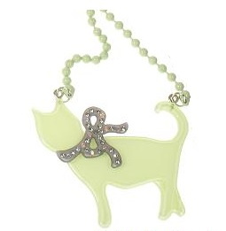 BIG BABY Sophisticated Cat & Bow Necklace
