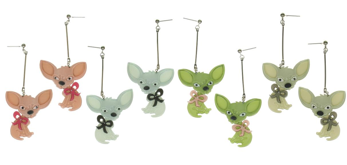 BIG BABY Chihuahua Chiwawa Dog Earrings