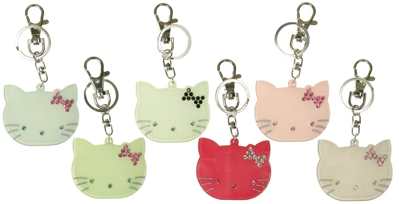 BIG BABY Kitty Cat Keyring/ Bag Charm - Colour Set 2