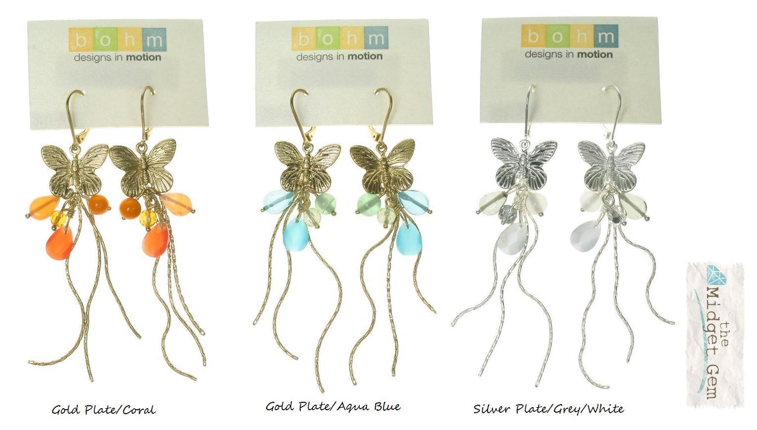 Bohm Butterfly Society Charm Cascade Earrings
