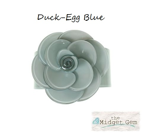 Wide Rose Duck-Egg Blue Cuff - BIG BABY Bangle