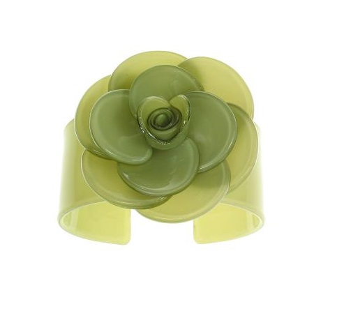 Wide Rose Olive Green Cuff - BIG BABY Bangle