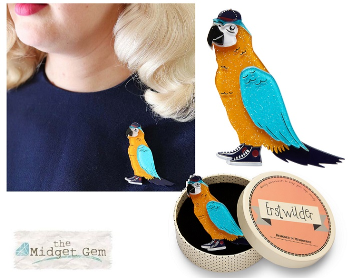 Corey The Macaw - Erstwilder Parrot South American Socialite Brooch