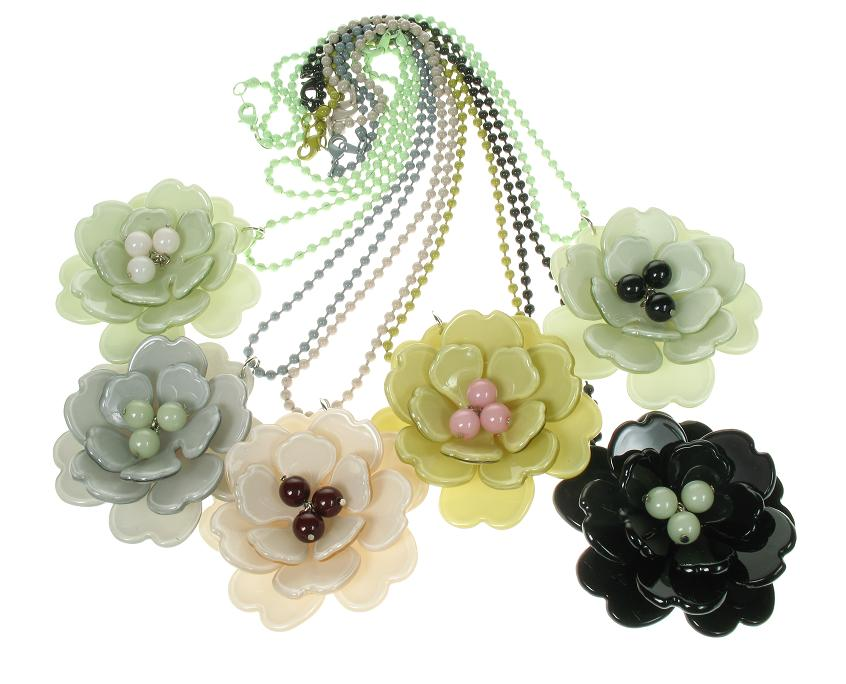BIG BABY Peony Flower Necklace