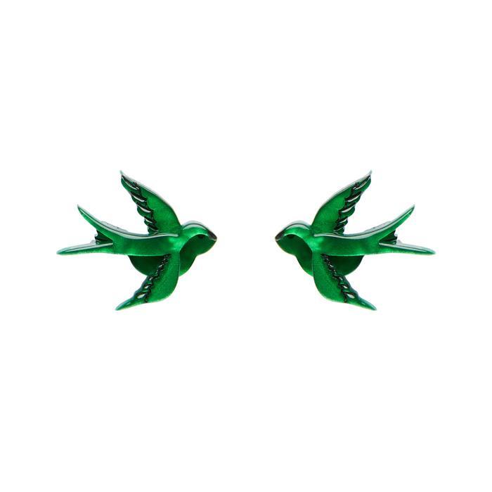 Blue Bayou - Erstwilder Green Bird Earrings