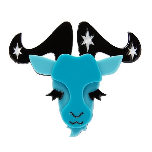 Capricorn The Controlled - Erstwilder Horoscope Brooch - Slight Second