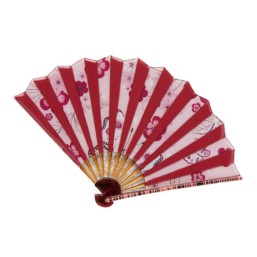 Majestic Mai Ogi - Erstwilder Oriental Fan Brooch