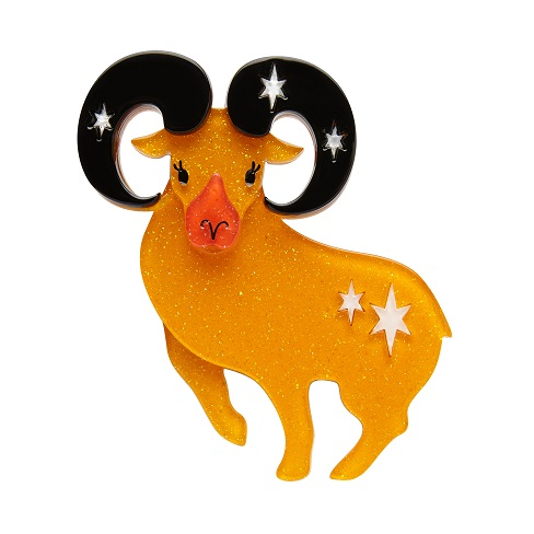 Aries The Achiever - Erstwilder Horoscope Ram Brooch