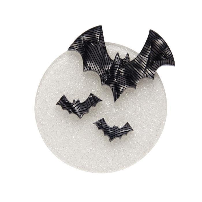 All Hallows' Eve - Erstwilder Full Moon & Bats Brooch