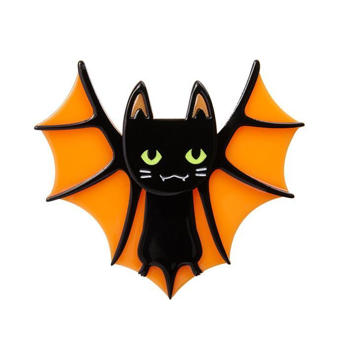 Bat Cat - Erstwilder Bat & Cat Brooch