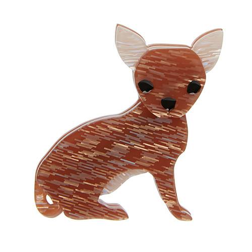 Bruiser Bow Wow - Erstwilder Chihuahua Dog Brooch