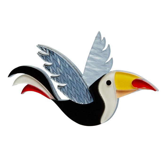 Conrad Cool Beak - Erstwilder Toucan Bird Brooch