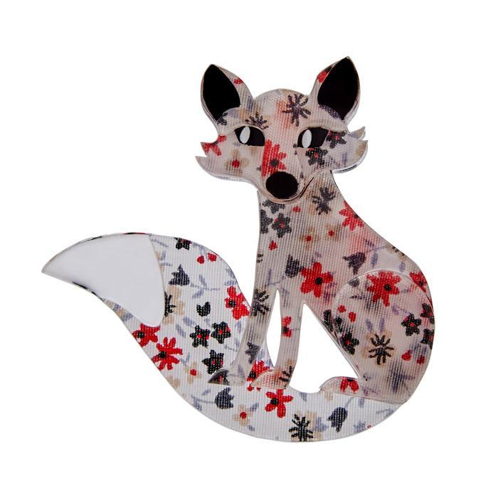 Frond Fox - Erstwilder Encased Fabric Brooch