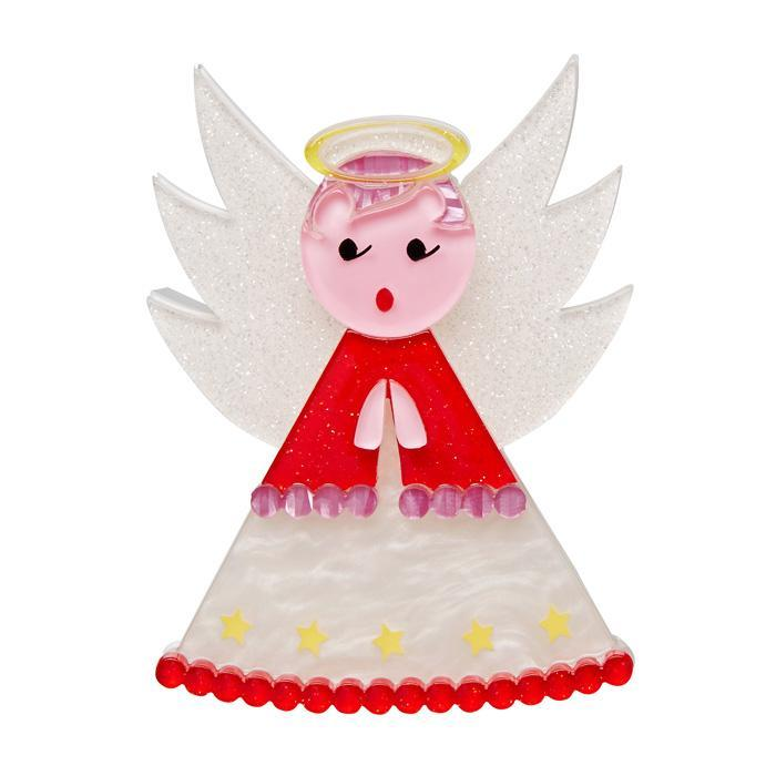 Nanna's Little Angel - Erstwilder Christmas Angel Brooch