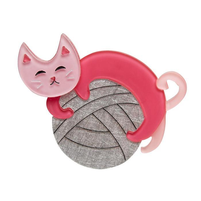 Natural Predator - Erstwilder Cat With Ball of Wool Brooch