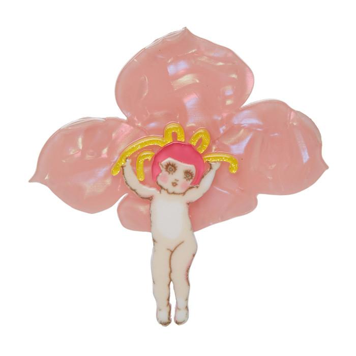 Pink Boronia - Erstwilder May Gibbs Brooch