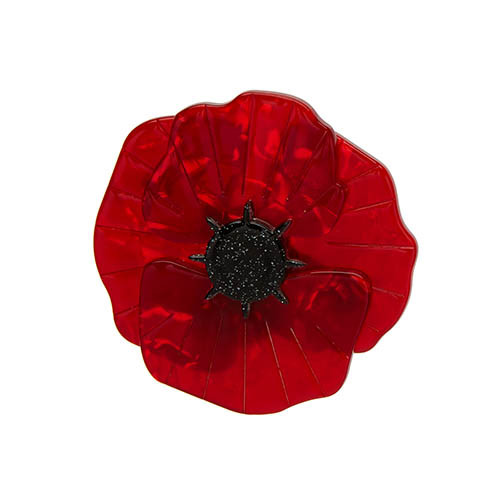 Poppy Field - Erstwilder Red Poppy Brooch