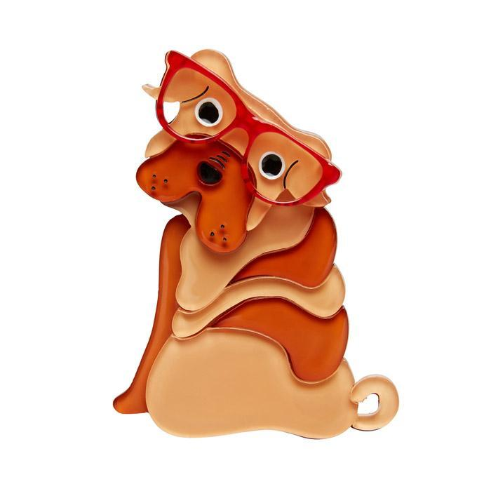 Shi-Ping the Shar Pei - Erstwilder Dog Brooch