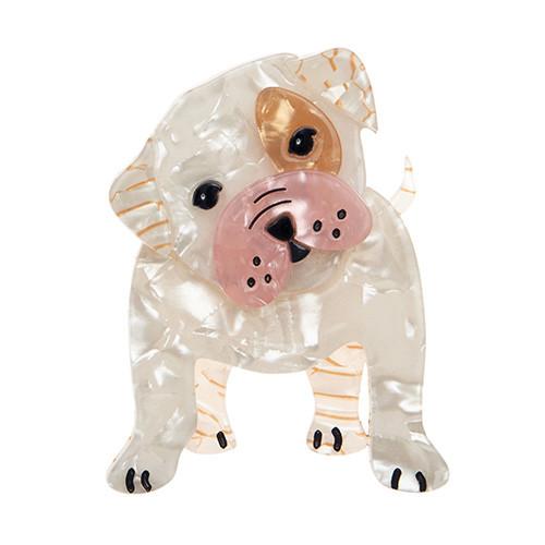Taciturn Taco - Erstwilder Bull-Dog Brooch