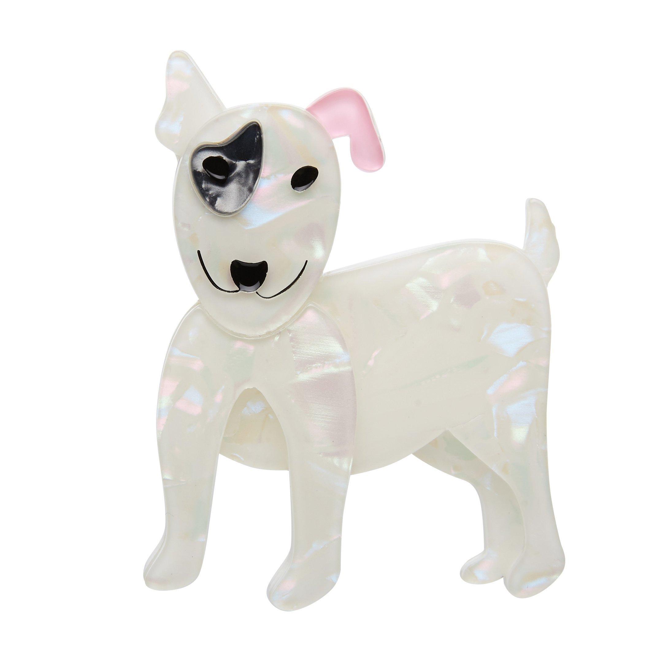 Willie the White - Erstwilder Bull Terrier Dog Brooch
