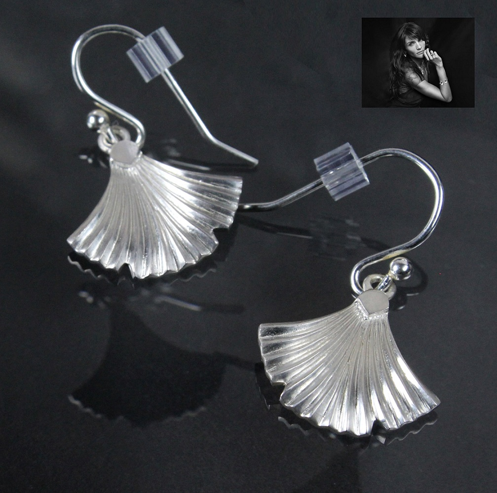 PILGRIM+ 925 Solid Sterling Silver Egyptian Papyrus Earrings BNWT