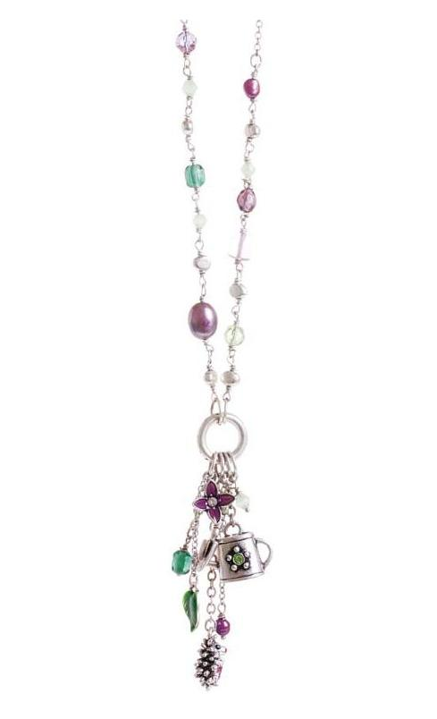 A & C Long Garden Charm Tassel Necklace