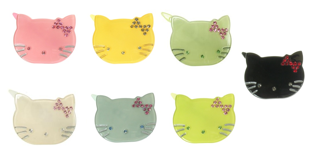 BIG BABY Kitty Cat Hair Slide/Clip