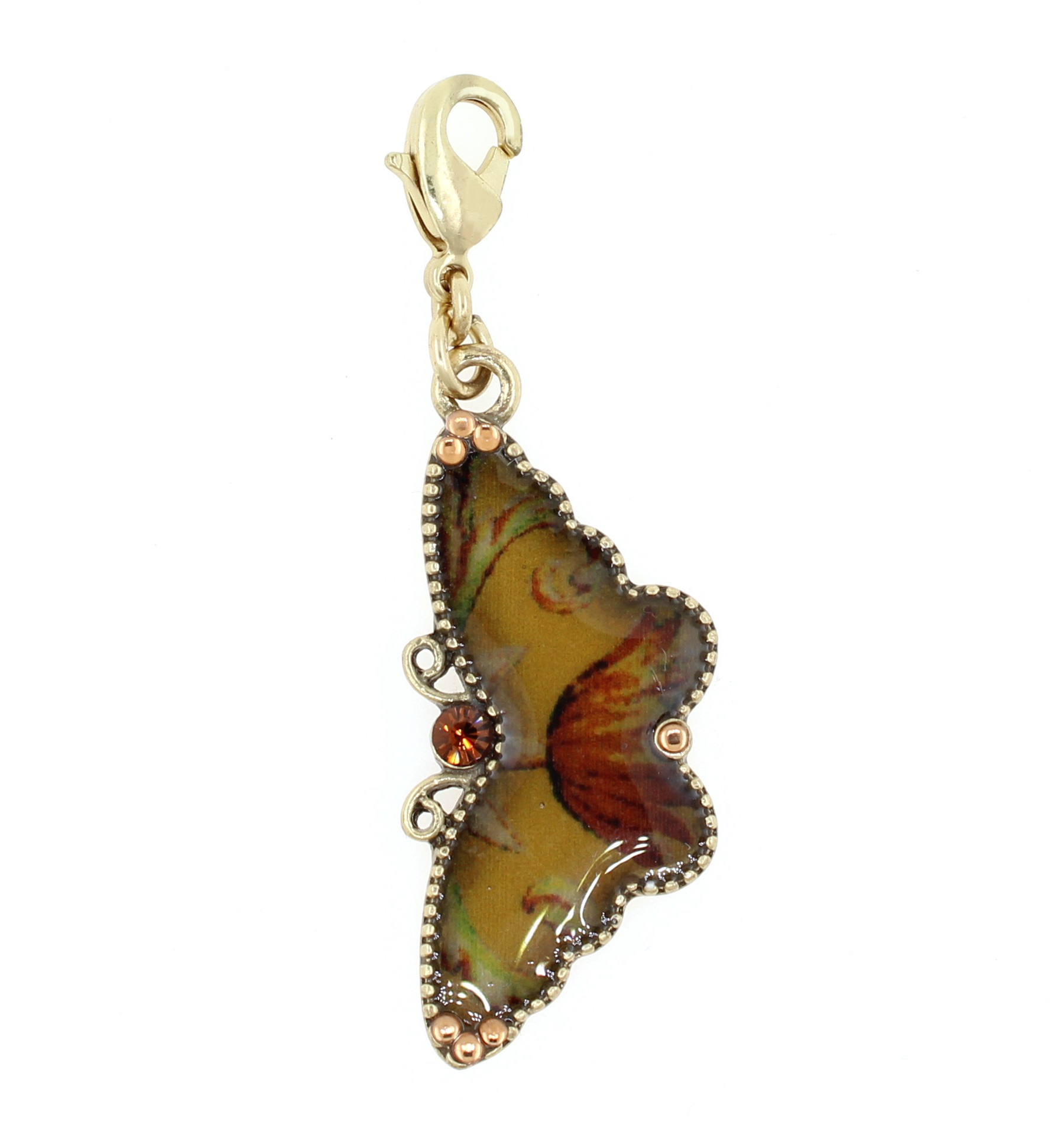 PILGRIM - Butterfly Charm - Shades of Brown/Gold - BNWT