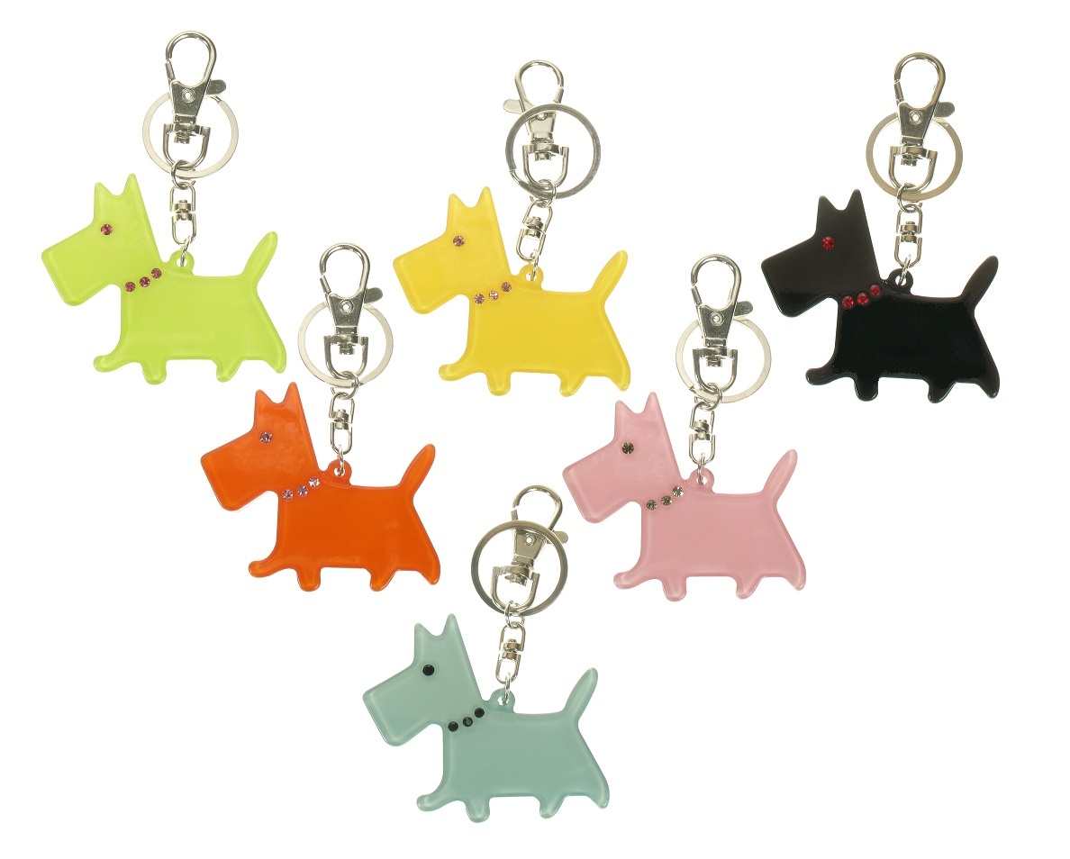 BIG BABY Scottie/Scotty Dog Keyring/ Bag Charm - Colour Set 1