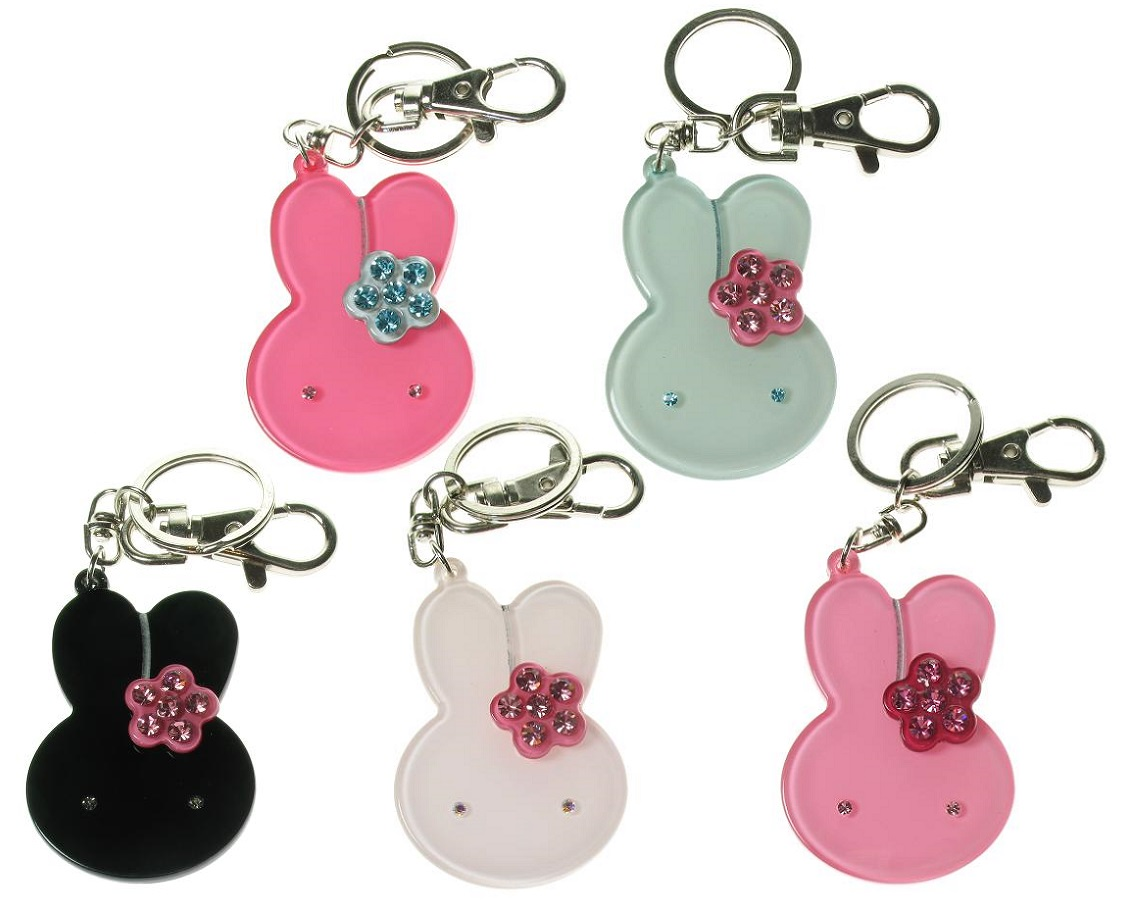 BIG BABY - Bunny Rabbit & Flower Keyring/Bag Charm