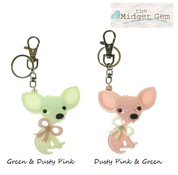 BIG BABY  - Chihuahua Chiwawa Dog Key Ring/Bag Charm