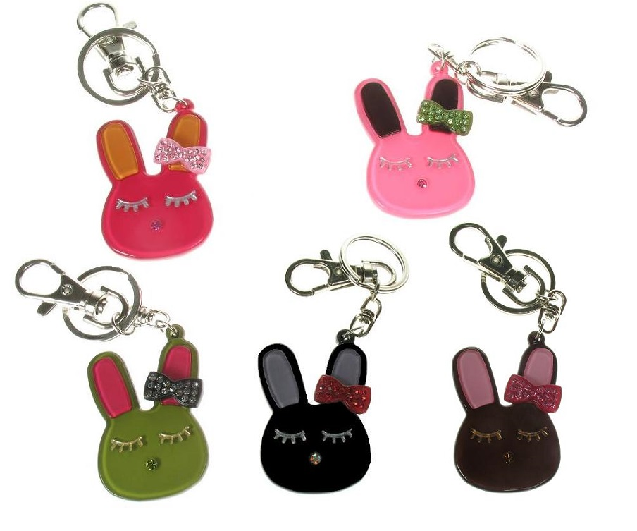 BIG BABY - Bunny Rabbit With Bow Keyring/ Bag Charm