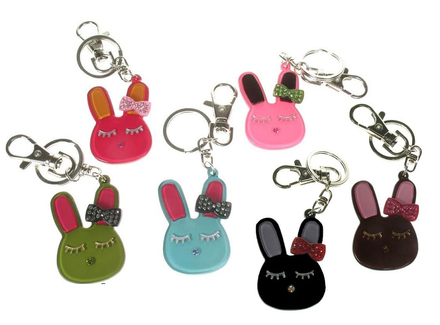 BIG BABY Bunny Rabbit With Bow Keyring/ Bag Charm