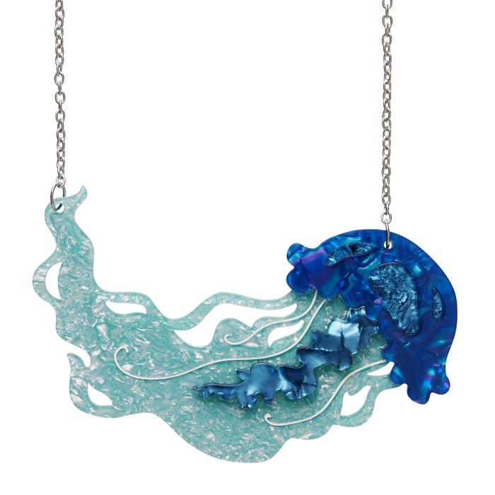 Slippin' Under - Erstwilder Jelly Fish Necklace