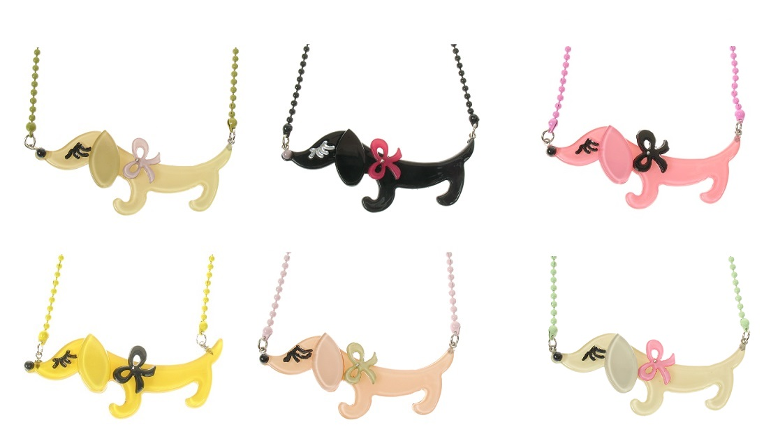 BIG BABY Sausage Dachshund Dog Necklace