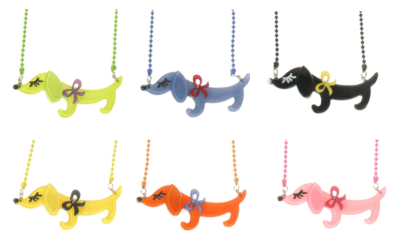 BIG BABY Sausage Dachshund Dog Necklace - Colour Set 2