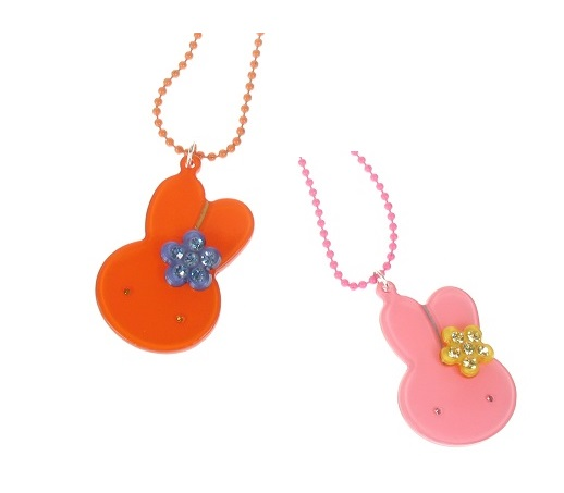 BIG BABY Little Bunny Rabbit With Flower Necklace