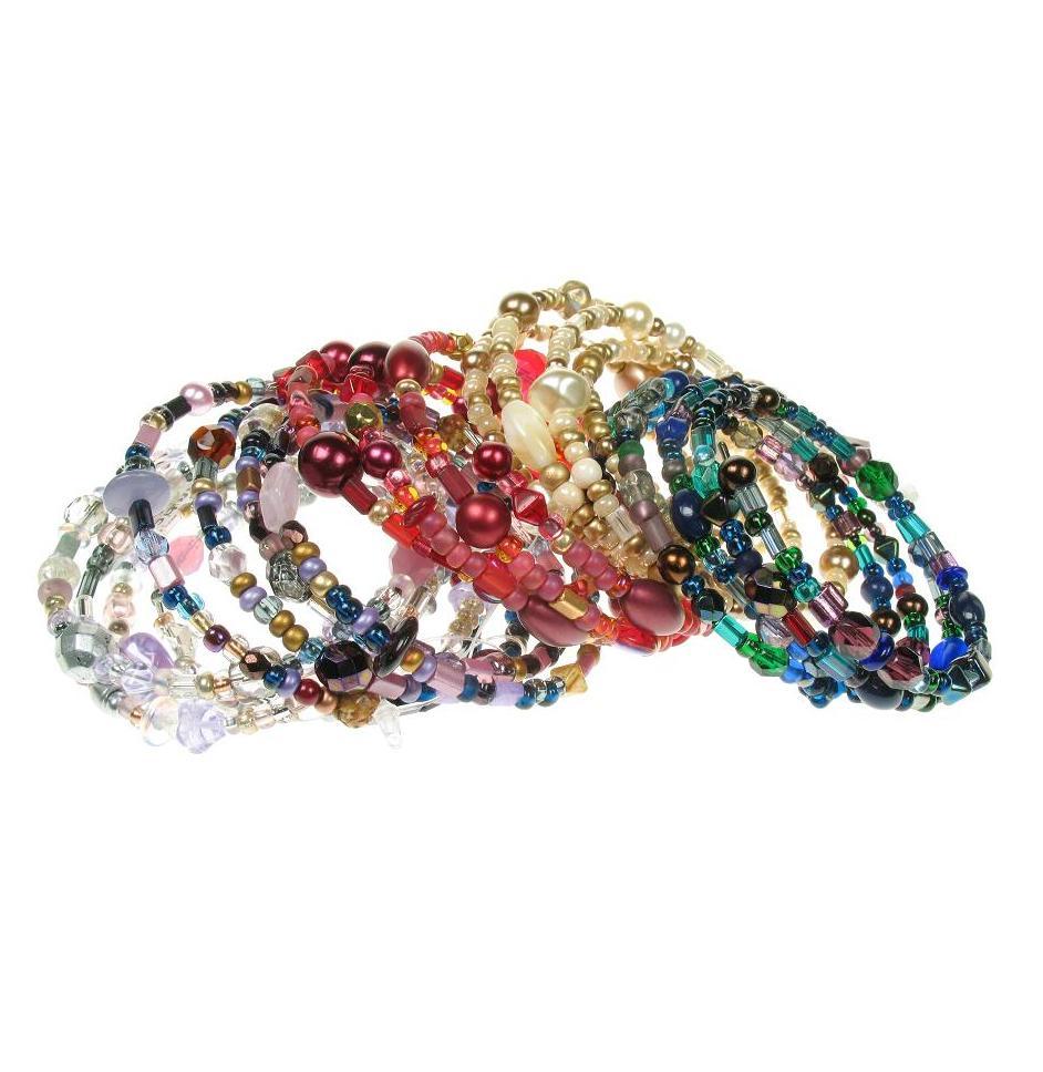 PINK 'A World Of Glass' Memory Wrap Bracelets