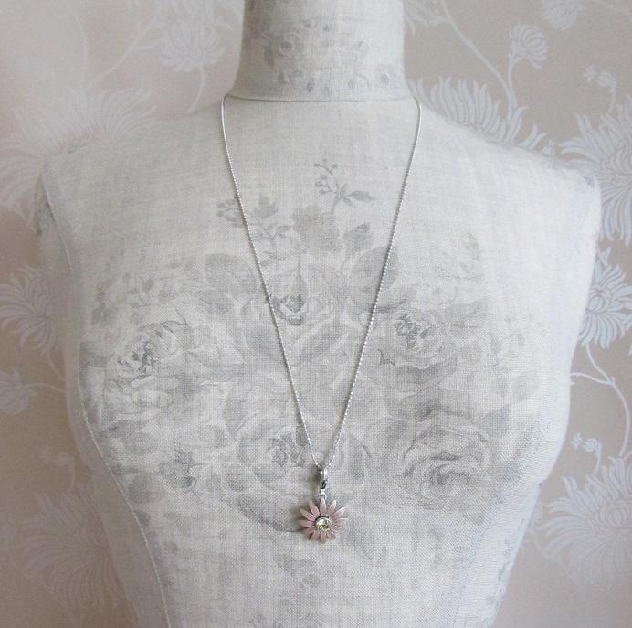 PILGRIM - Charm Chain - Ball-Link Oxidised Silver + Daisy Charm BNWT