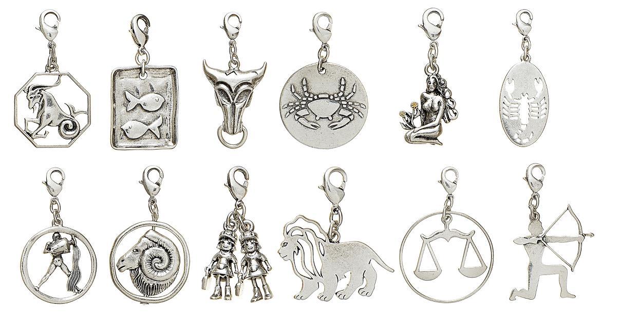 Pilgrim Charm - Star Signs - Silver